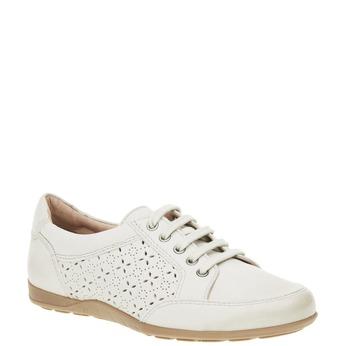 Skórzane buty sportowe na co dzień bata, biały, 524-1511 - 13