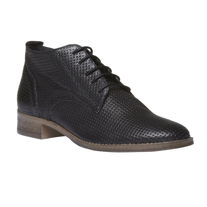Damskie skórzane botki bata, czarny, 524-6468 - 13