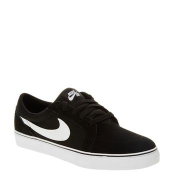Męskie skórzane buty sportowe nike, czarny, 803-6134 - 13