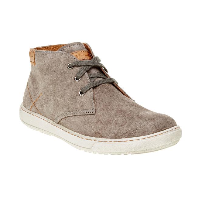 Męskie skórzane buty weinbrenner, brązowy, 843-2661 - 13
