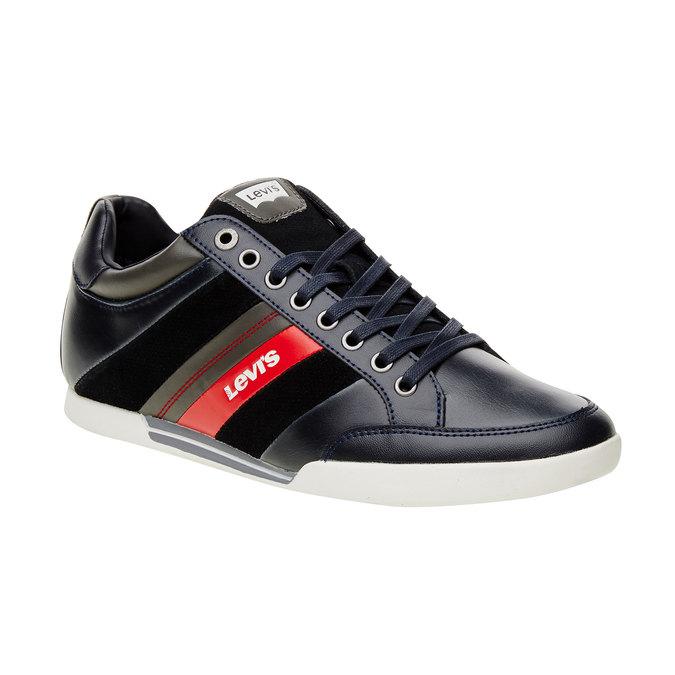 Skórzane buty sportowe na co dzień levis, czarny, niebieski, 844-9260 - 13