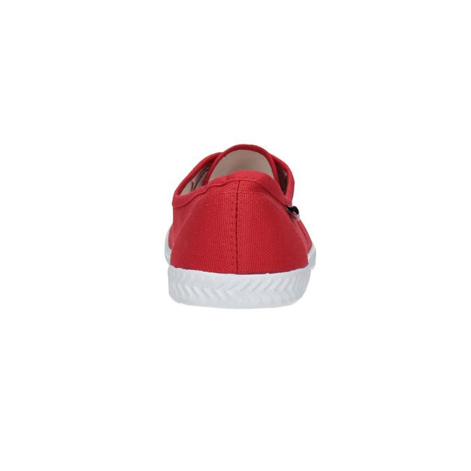 Czerwone trampki damskie tomy-takkies, czerwony, 519-5691 - 17
