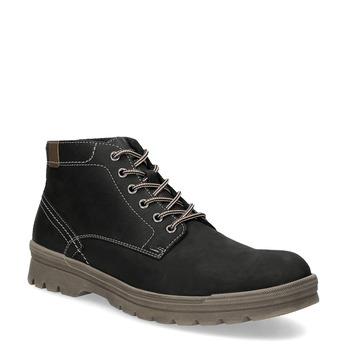 Skórzane zimowe buty męskie weinbrenner, czarny, 896-6107 - 13