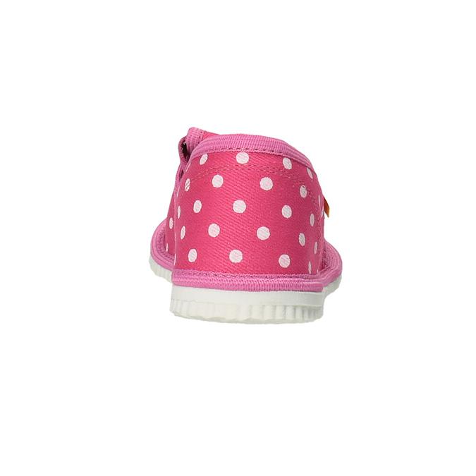 Domowe buty dla dziewcząt w kropki bata, różowy, 279-5103 - 17