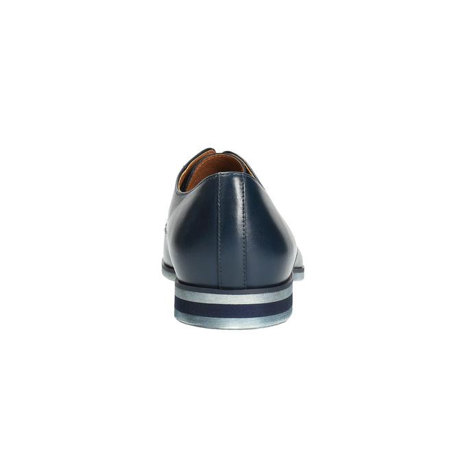 Niebieskie skórzane półbuty conhpol, niebieski, 824-9733 - 17