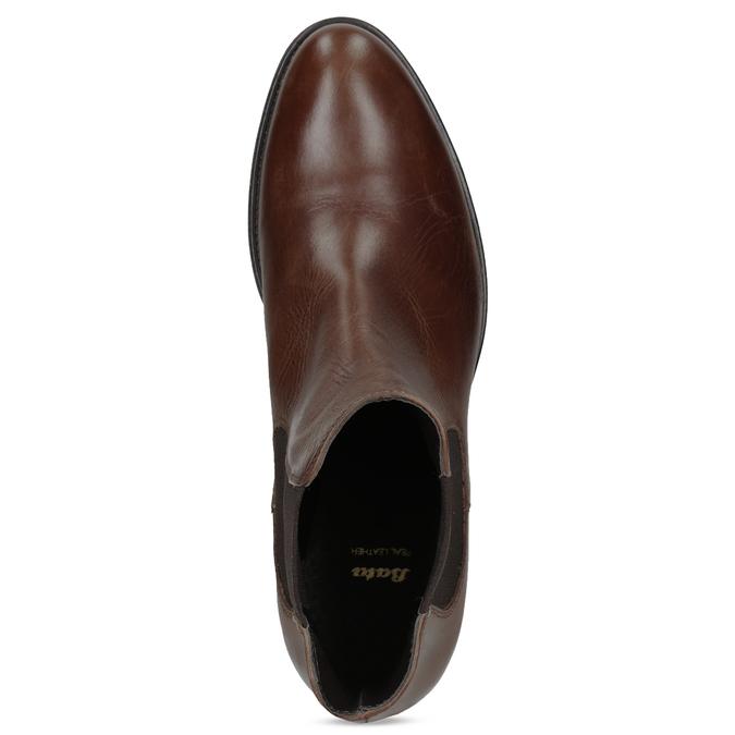 Skórzane buty Chelsea bata, brązowy, 594-4448 - 17
