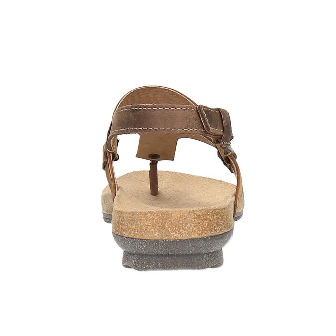 Damskie skórzane sandały weinbrenner, brązowy, 566-4101 - 17
