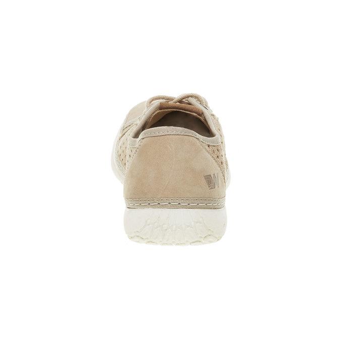 Skórzane buty sportowe z perforacją weinbrenner, beżowy, 546-8238 - 17