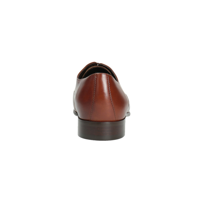 Brązowe półbuty ze skóry typu Oxford conhpol, brązowy, 826-3731 - 17