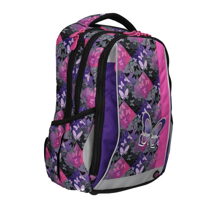 Plecak szkolny w motyle bagmaster, różowy, fioletowy, 969-5607 - 13