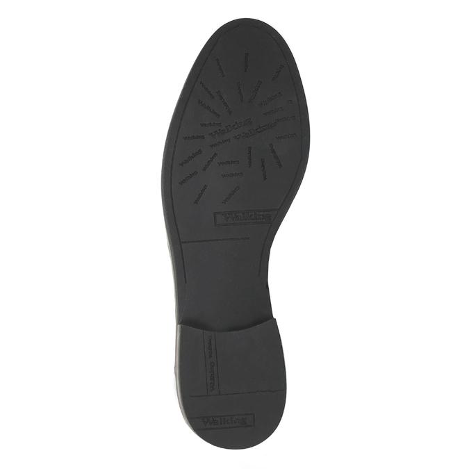 Buty za kostkę ze skóry z suwakami bata, czarny, 596-6605 - 26
