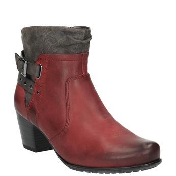 Damskie ocieplane botki bata, czerwony, 696-5617 - 13