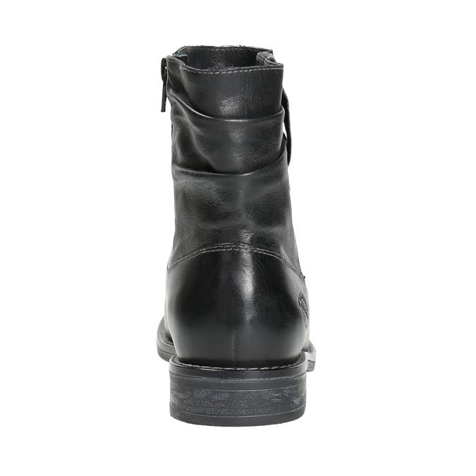 Botki damskie ze skóry bata, czarny, 594-6611 - 17