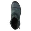 Skórzane botki ze srebrnymi detalami bata, 596-9614 - 19