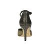 Sandały na szpilce, ze złotymi refleksami bata, czarny, 729-8630 - 17