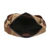 Skórzana torebka z przeszyciami bata, brązowy, 963-3130 - 15