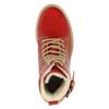Skórzane botki na przezroczystej podeszwie weinbrenner, czerwony, 598-5602 - 19