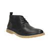 Skórzane buty typu chukka bata, czarny, 824-6665 - 13