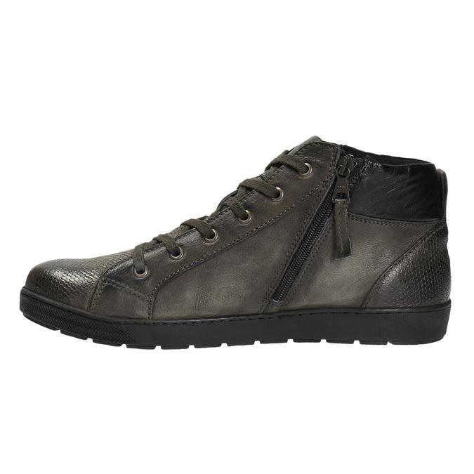 Skórzane buty męskie za kostkę bata, szary, 846-2602 - 26