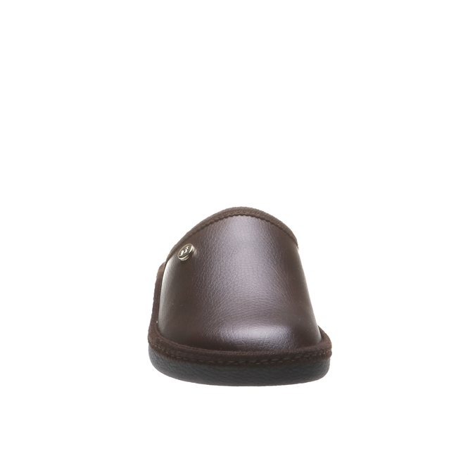 Kapcie męskie zpełnymi noskami bata, brązowy, 871-4304 - 16
