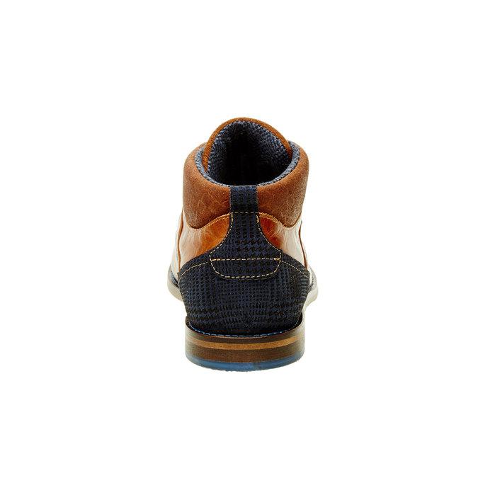 Nieformalne skórzane półbuty za kostkę bata, brązowy, 894-4622 - 17