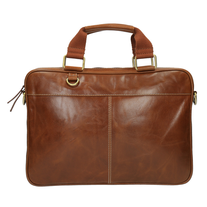 Brązowa torba męska ze skóry bata, brązowy, 964-3204 - 19