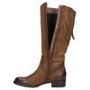 Brązowe skórzane kozaki bata, brązowy, 596-4604 - 26