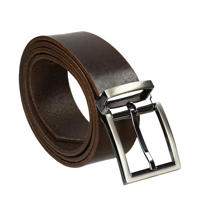 Brązowy skórzany pasek bata, brązowy, 954-4129 - 13