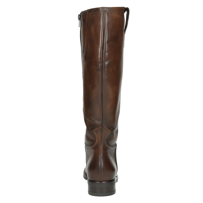 Damskie skórzane kozaki bata, brązowy, 596-3608 - 17