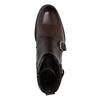 Skórzane botki ze sprzączkami bata, brązowy, 894-4683 - 19