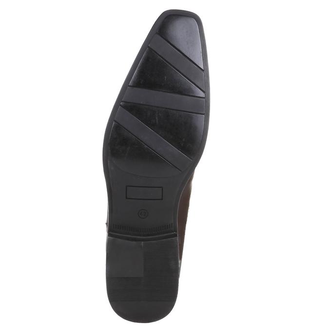 Skórzane półbuty w swobodnym stylu na wyrazistej podeszwie bata, brązowy, 824-4698 - 18