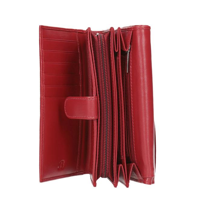 Skórzany portfel damski bata, czerwony, 944-5168 - 15