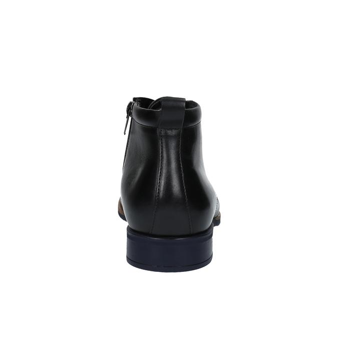 Skórzane ocieplane buty za kostkę conhpol, czarny, 894-6679 - 17