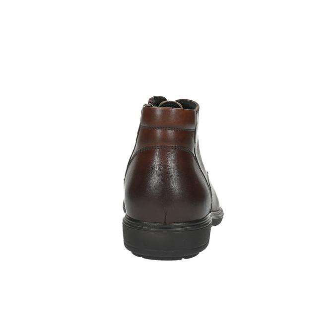Męskie skórzane buty do kostki bata, brązowy, 894-4671 - 17