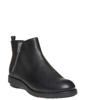 Skórzane botki flexible, czarny, 594-6227 - 13