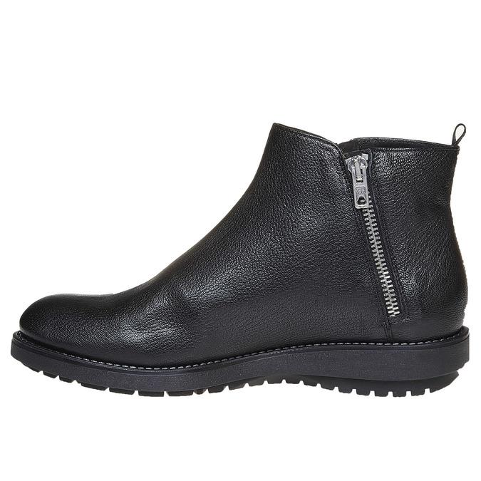 Skórzane botki flexible, czarny, 594-6227 - 19