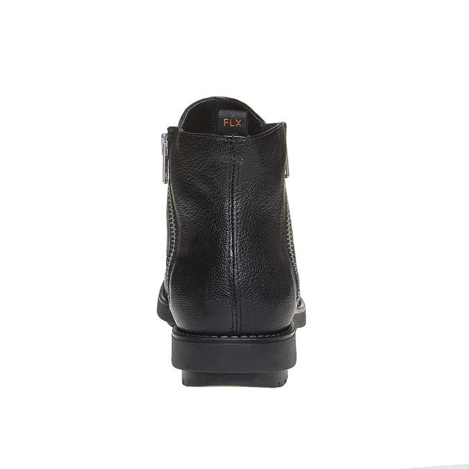 Skórzane botki flexible, czarny, 594-6227 - 17
