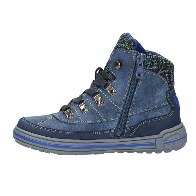 Dziecięce buty za kostkę zociepliną mini-b, niebieski, 491-9651 - 26