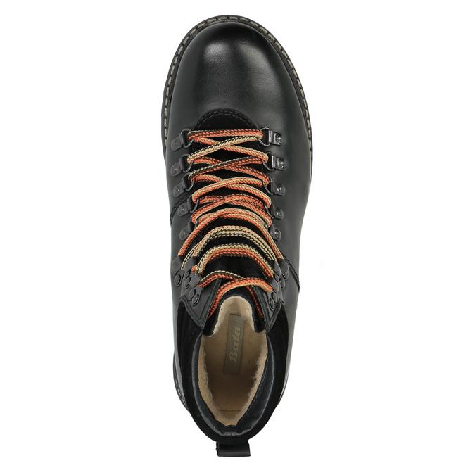 Skórzane buty z oryginalnym sznurowaniem bata, czarny, 894-6180 - 19