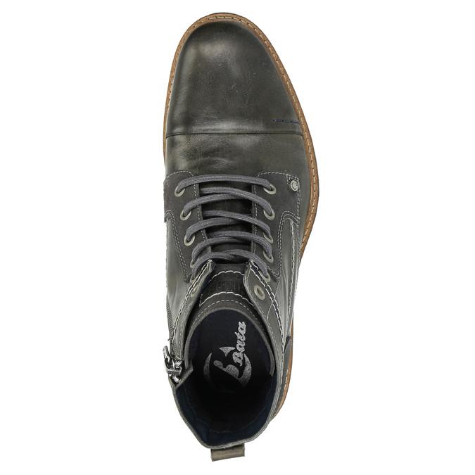 Skórzane buty męskie za kostkę bata, szary, 894-2621 - 19