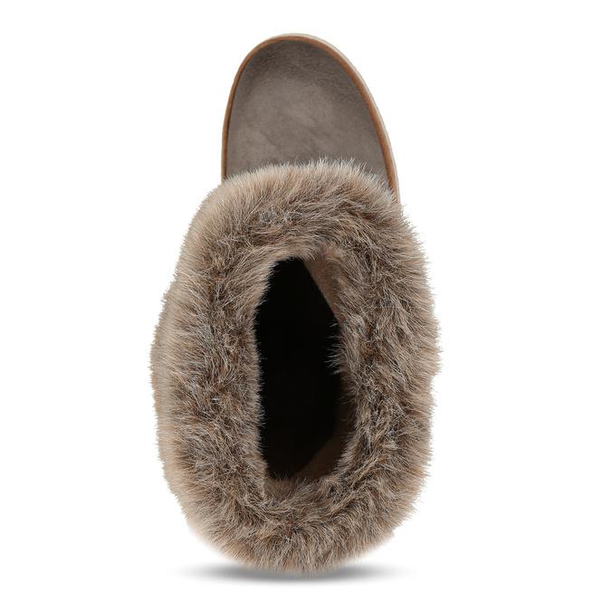 Skórzane buty z futerkiem weinbrenner, szary, 596-2633 - 17