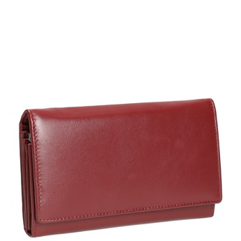 Skórzany portfel damski bata, czerwony, 944-5357 - 13
