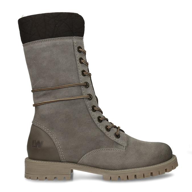 Zimowe sznurowane buty damskie weinbrenner, szary, 593-2476 - 19