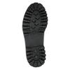 Skórzane sznurowane buty na wyrazistej podeszwie weinbrenner, czarny, 596-9635 - 26