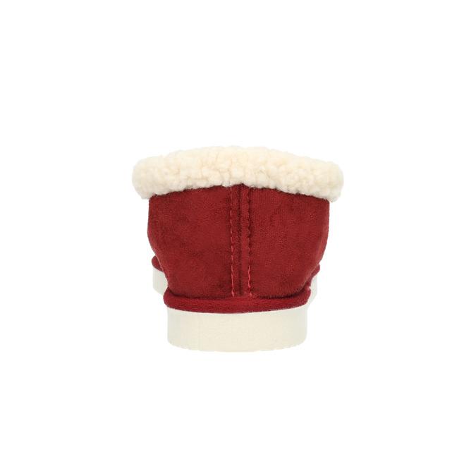Kapcie domowe ze sztucznym futerkiem bata, czerwony, 579-5612 - 17