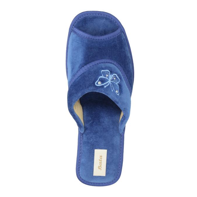 Kapcie damskie bata, niebieski, 679-9606 - 19