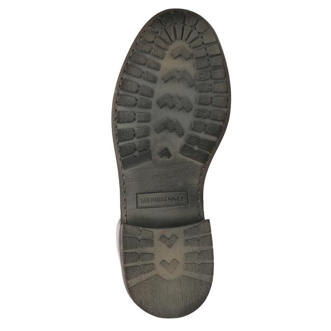 Botki damskie ze skóry weinbrenner, brązowy, 596-4632 - 26