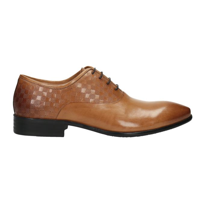 Brązowe oksfordy ze skóry bata, brązowy, 824-3643 - 15
