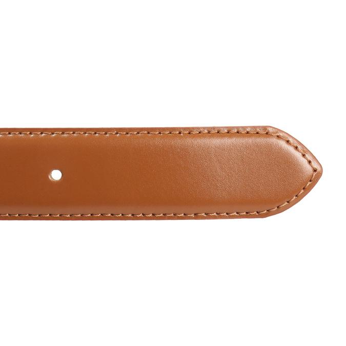 Brązowy skórzany pasek męski bata, brązowy, 954-3153 - 16
