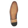 Skórzane półbuty z fakturą bata, brązowy, 826-3813 - 26